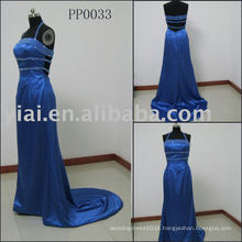 PP0033 2010 Strapless Blue Evening Dress